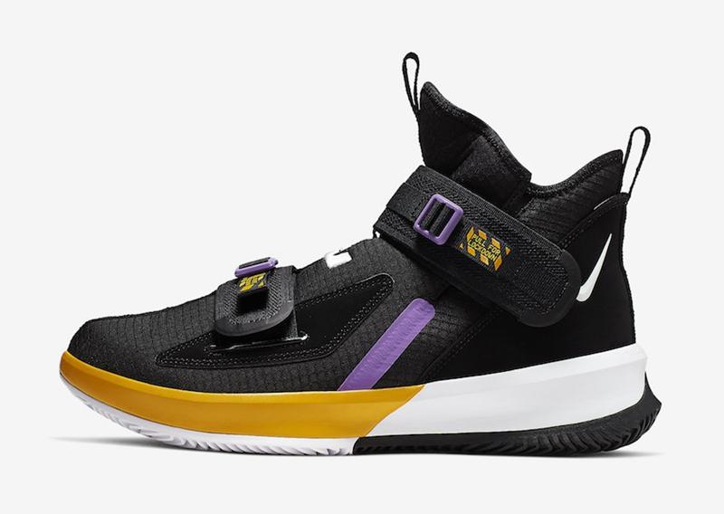 Nike,LeBron Soldier 13,AR4228-  詹皇训练上脚!LeBron Soldier 13 湖人配色 8 月发售!