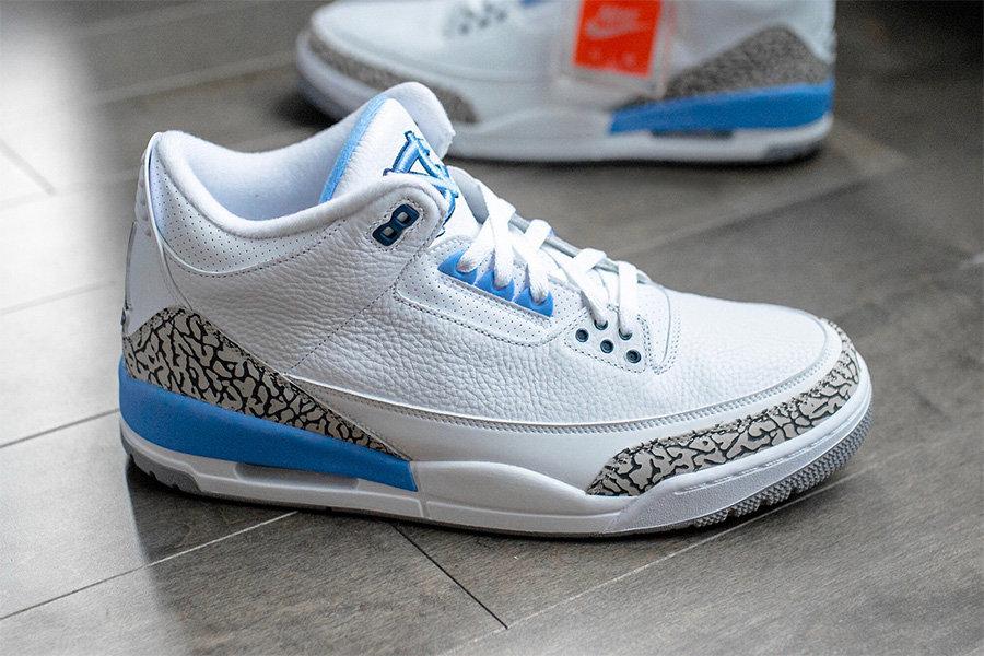 "CT8532-104,AJ3,Air Jordan 3 CT8532-104 又一天价配色即将市售!这次是 Air Jordan 3 ""UNC"""