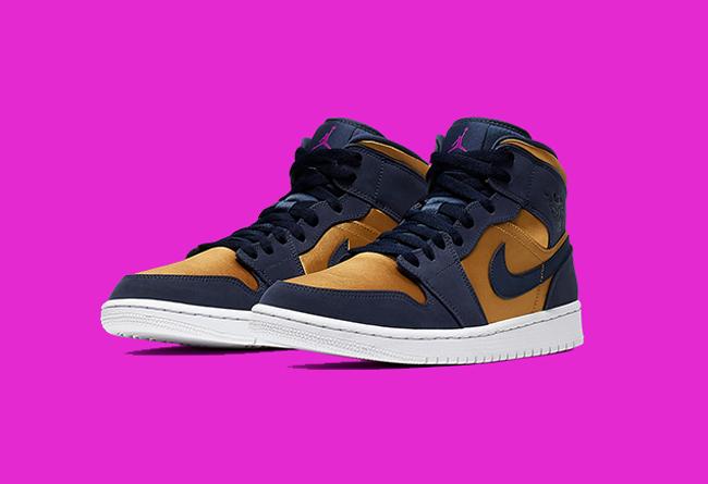 Nike,Air Jordan 1 Mid,AJ1,发售  丝绸鞋面 + 麂皮材质!全新 Air Jordan 1 Mid 即将发售!