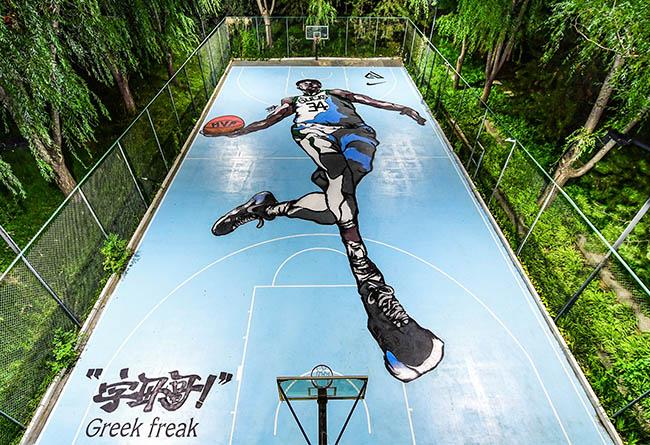Nike,EKIN,字母哥,Nike Zoom Freak  你没见过的「字母哥专属球场」,其中一块就在中国!