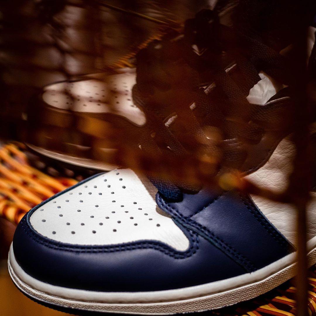 Air Jordan 1,AJ1,发售,555088-140  发售日期推迟!黑曜石 Air Jordan 1 最新上脚美图来了