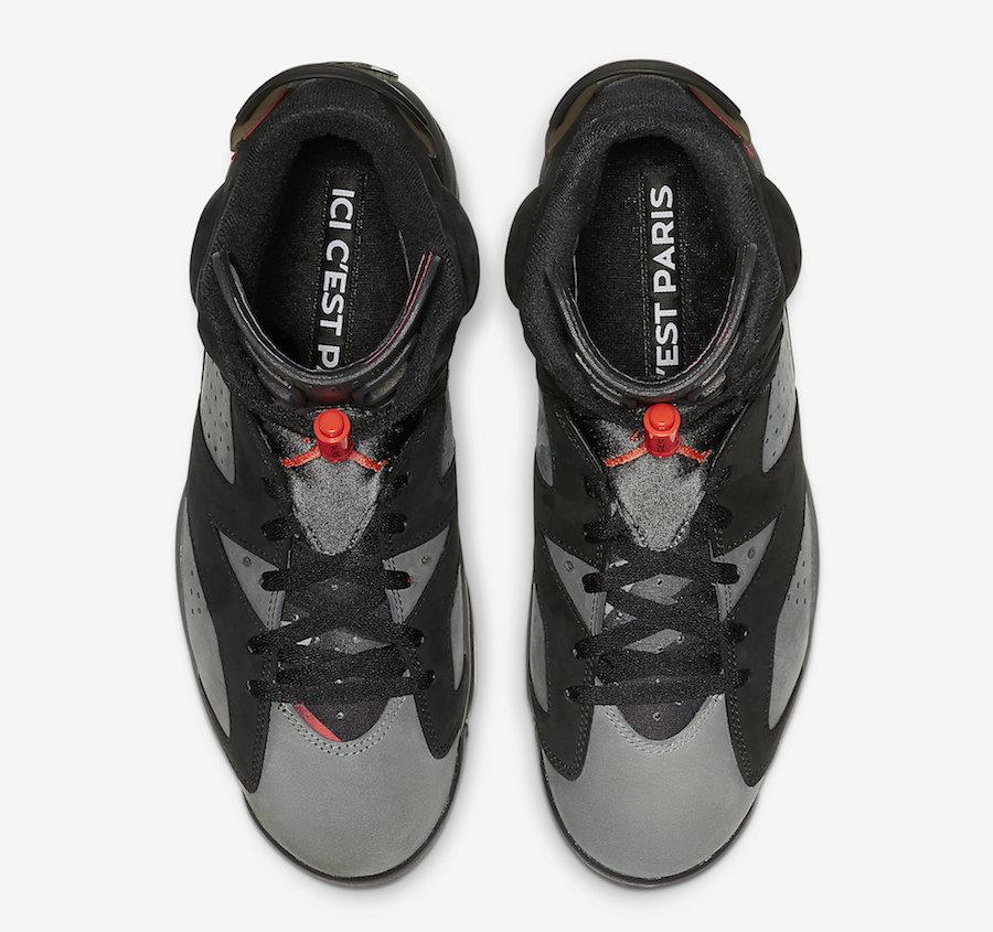 AJ6,Air Jordan 6,CK1229-001,发售  本月最值得期待的联名之一!大巴黎 Air Jordan 6 月底发售