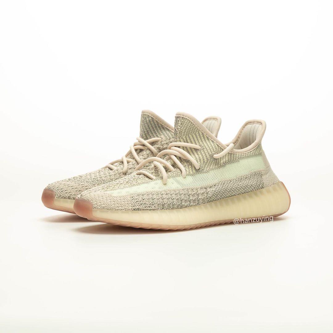 "adidas,Yeezy,FW3043,发售  下一双 Yeezy 350 V2 要等到九月!全新 ""Citrin"" 更多实物曝光"