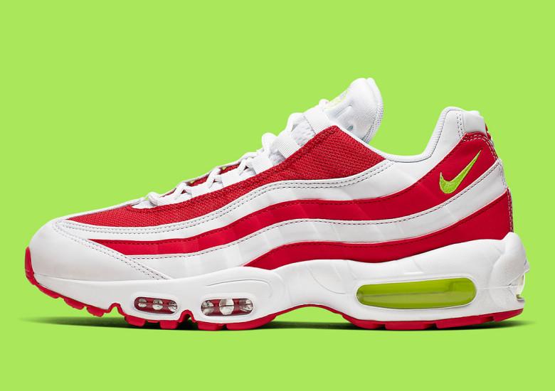 Nike,Air Max 95,发售,CQ3644-171  白红条纹装扮!Air Max 95 全新配色即将发售