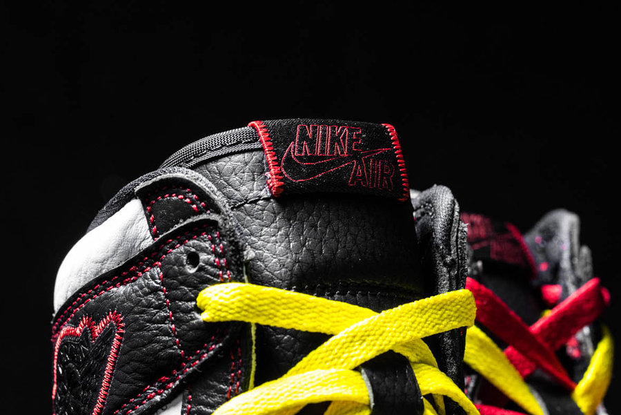 Air Jordan 1,Nike,AJ1,  年度最怪球鞋?不对称+黑红+解构,这双 AJ1 有点东西!