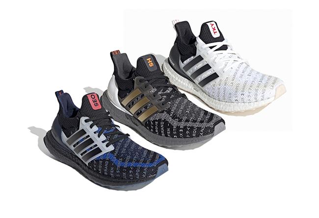 adidas,Ultra boost,发售  三双城市限定配色!上海、首尔和东京你选哪双?
