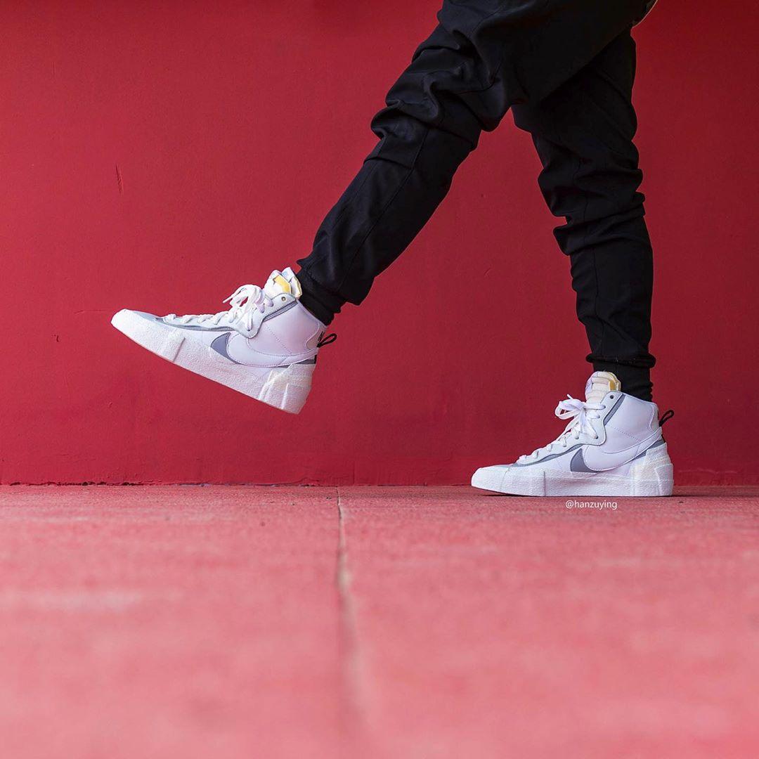 Nike,Blazer,Sacai,发售,上脚,BV8072  Sacai x Nike Blazer Mid 也有新配色来了!今年秋季发售!