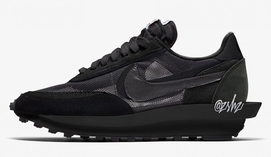 Sacai,Nike LDWaffle,BV0073-002  全新配色 Sacai x Nike LDWaffle 首度曝光!黑白纯色惊艳登场!