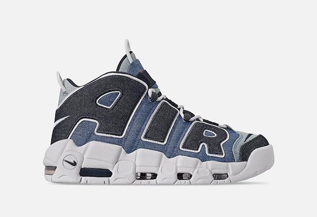 Nike,Air More Uptempo,Denim,CJ  罕见单宁撞色鞋面!这双 Nike「大 AIR」有点太酷了!