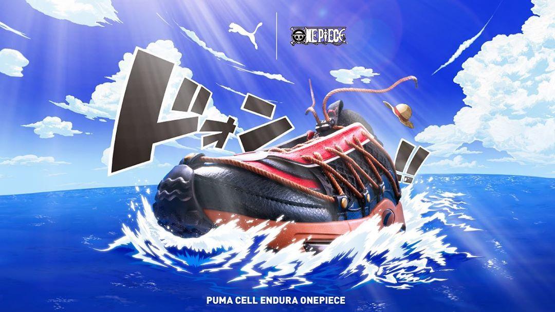 PUMA,CELL,One Piece,发售,372730-  《海贼王》联名球鞋来了!日本 atmos 本周率先发售!