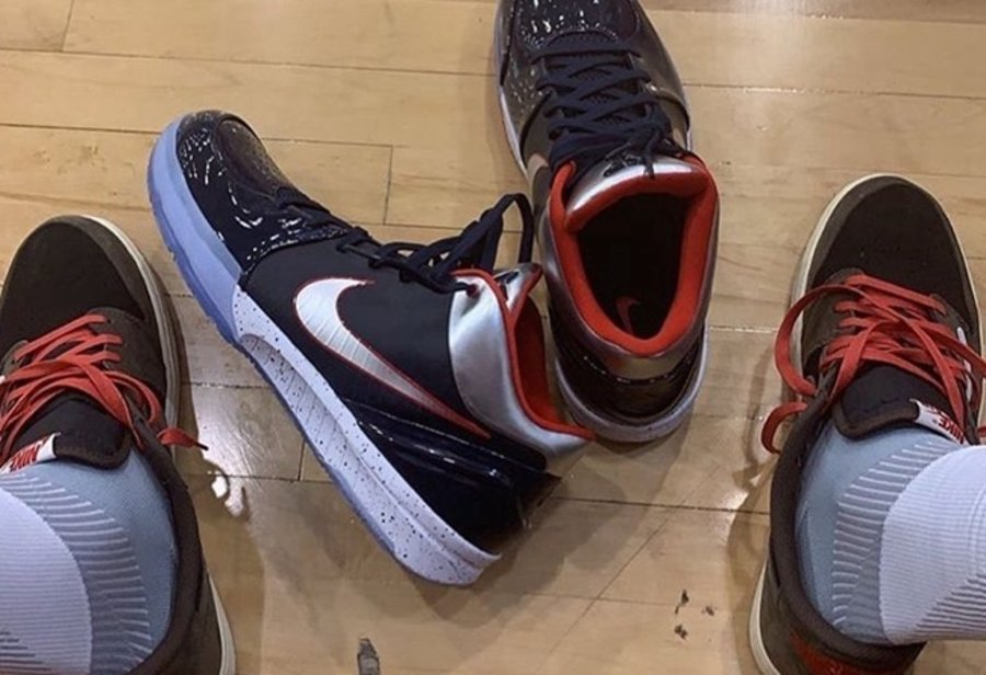 Nike,Zoom Kobe 4  吸睛效果不输反钩!塔克上脚 Zoom Kobe 4 美国队配色!