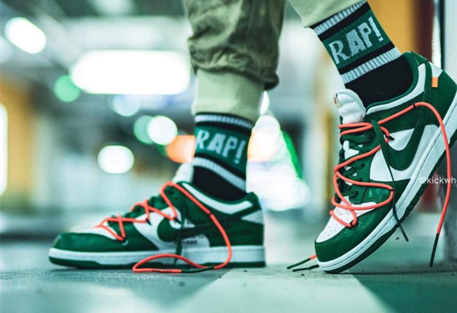 OFF-WHITE,Nike,Dunk SB,上脚,CT08  OFF-WHITE x Dunk Low 上脚照曝光!十月鞋王非它莫属!