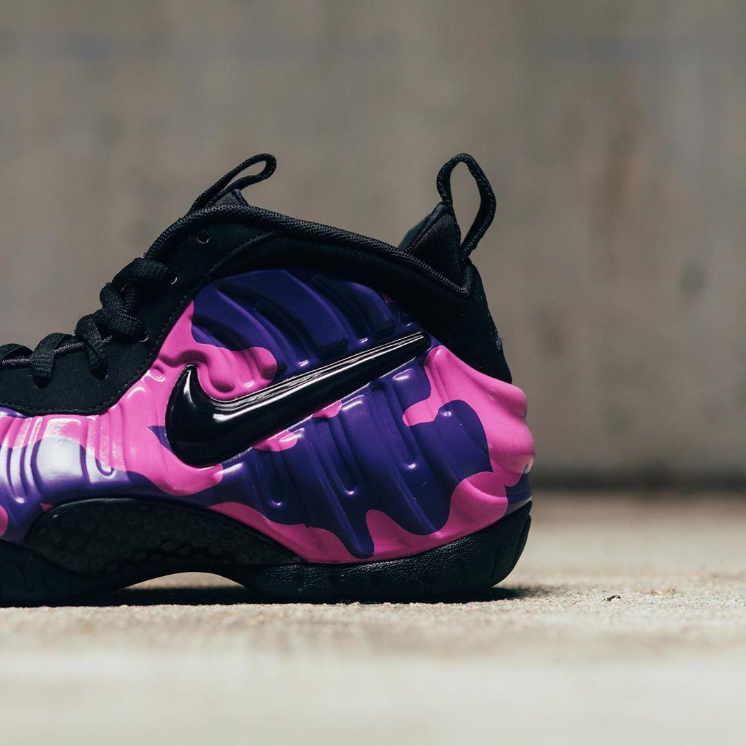 Air Foamposite Pro,Nike,  许久未见的亮眼配色!这双「紫迷彩泡」太骚气!