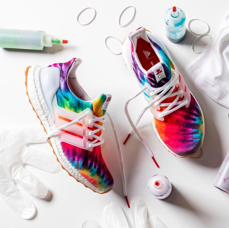 adidas,Ultra Boost,Woodstock  色彩绚丽的彩虹扎染!Nice Kicks x Ultra Boost 即将发售!