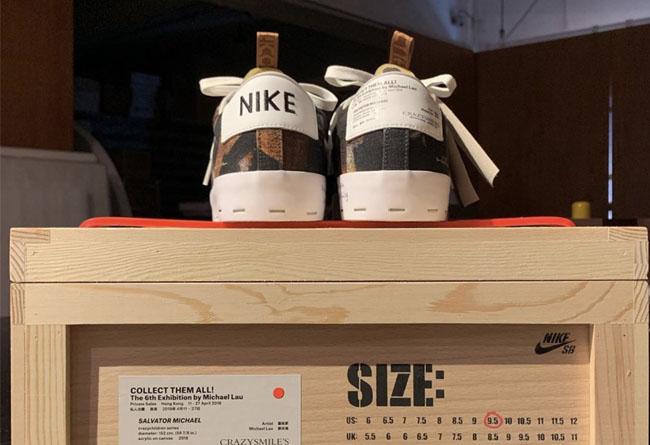 Michael Lau,Nike SB,Blazer Low  特殊鞋盒曝光!规格极高 Michael Lau x Nike SB 即将发售