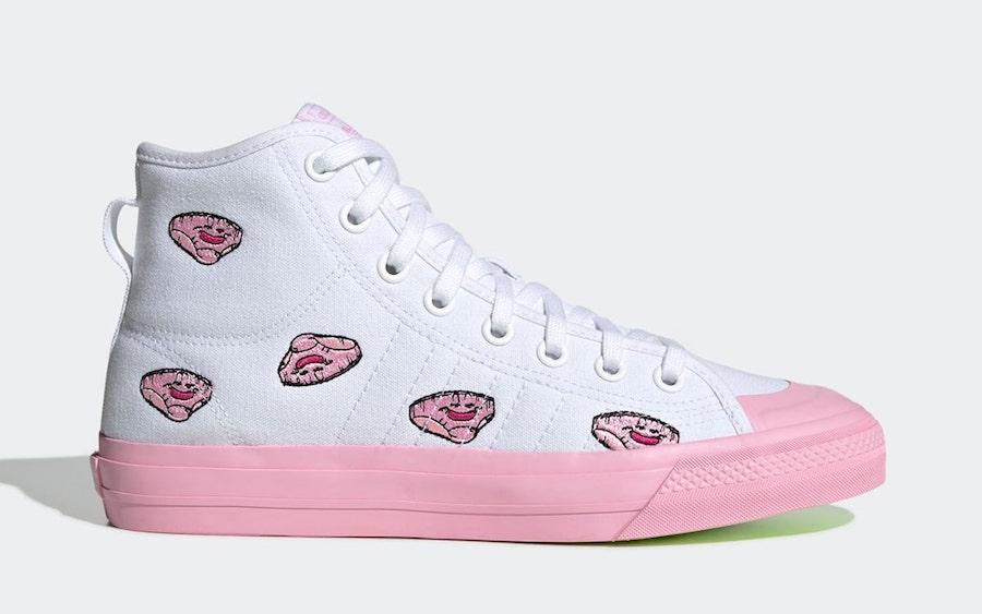 adidas,龙珠,Nizza Hi,EH3289,发售  龙珠 x adidas 又有新鞋曝光!鞋面的刺绣图案竟然是……