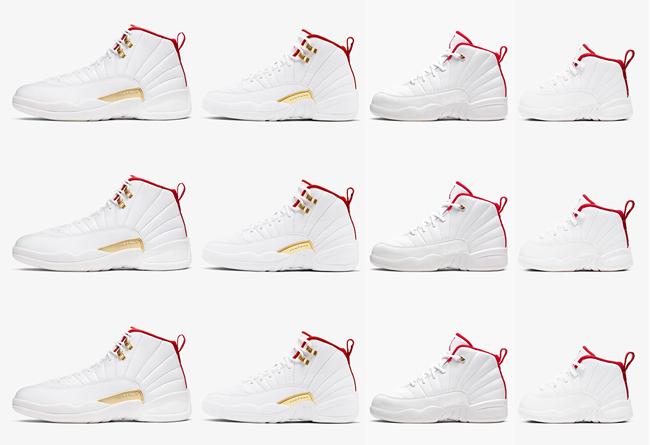 """Jordan,AJ12,Nike,发售,130690-107  全家族尺码官图释出!Air Jordan 12 """"FIBA"""" 下周发售!"""