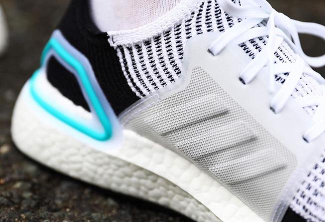 adidas,Ultra Boost,G54012  后跟天蓝色点缀!Ultra Boost 19 全新配色发售!