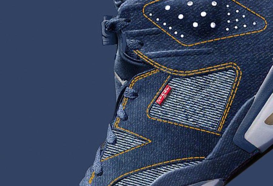 los angeles 1b919 20f7f 牛仔联名又要来了!Levis x Air Jordan 6 明年发售! 球鞋资讯 ...