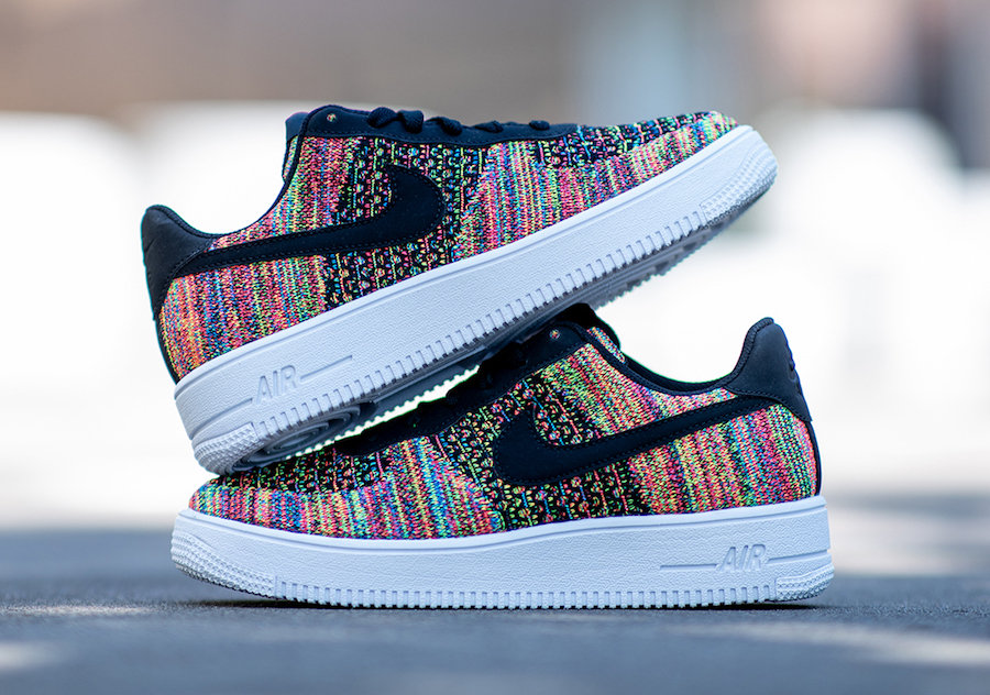 Air Force 1,AF1,Nike,发售,BV0063  高人气彩虹编织!Air Force 1 Flyknit 2.0 全新配色即将发售