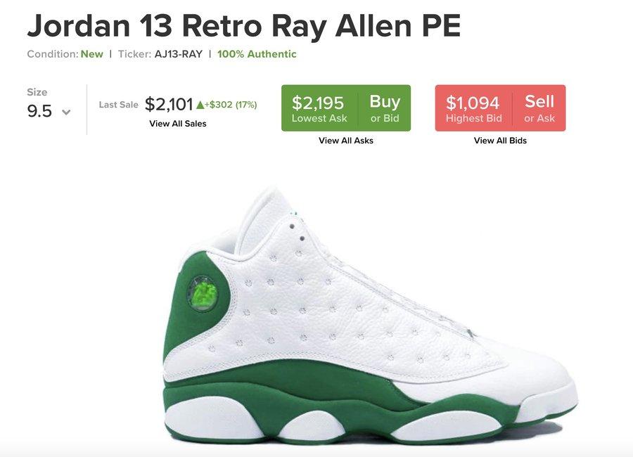 Air Jordan 13,AJ13, Celtics,发售  酷似雷阿伦 PE 配色!这双 Air Jordan 13 你打几分?