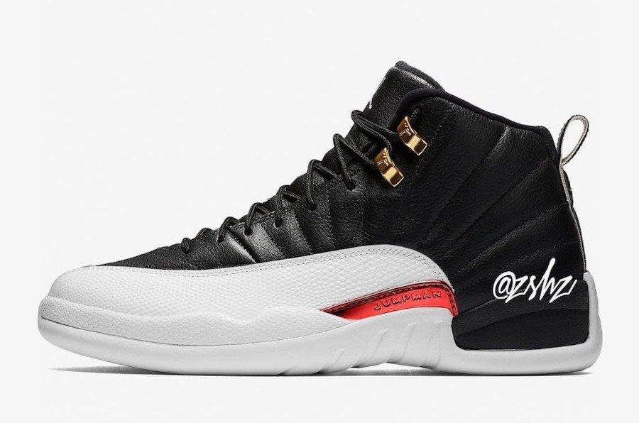 AJ12,Air Jordan 12,130690-017,  反转金扣 AJ12 实物出人意料!将于 11 月正式发售