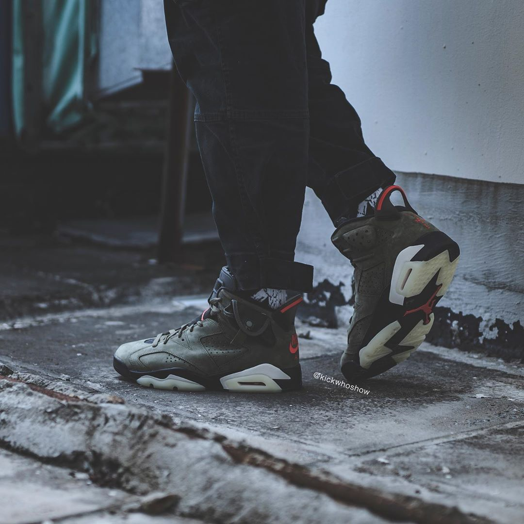 Air Jordan 6,Travis Scott,AJ6,  市售 or 亲友?全新配色 Travis Scott x AJ6 实物首次曝光!