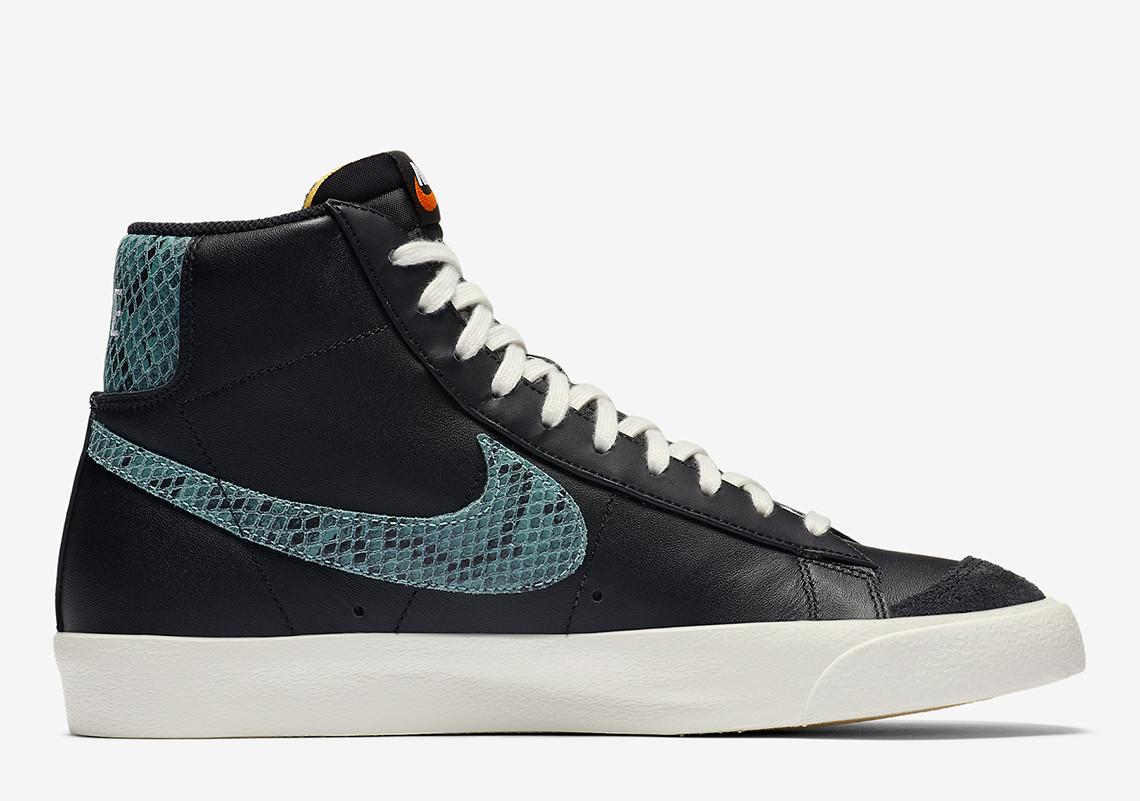 Nike,Blazer Mid,发售,CI1176-001  蛇纹家族新成员!这双全新 Nike Blazer Mid 有点奢华!
