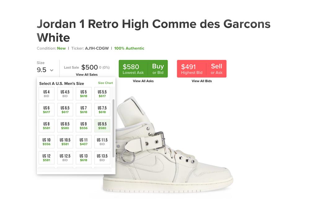 CDG,Air Jordan 1,AJ1,发售  市价破 4K!CDG x Air Jordan 1 本周末发售,人气超高!