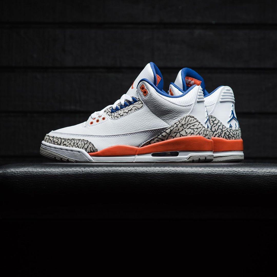 Air Jordan 3,AJ3,Knicks,136064  本周末发售!尼克斯 Air Jordan 3 美图来了,看完更想买!