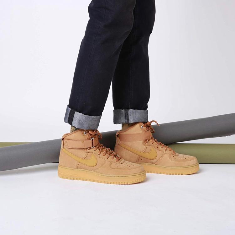 Nike,Air Force 1 High,Air Forc  秋冬选它准没错!全新 Air Force 1 小麦色现已发售!