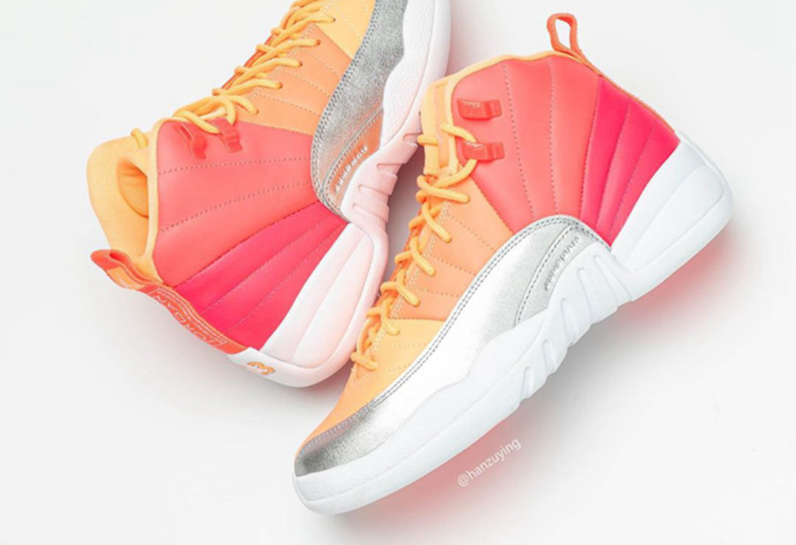 Air Jordan 12,AJ12,Hot Punch,5  出众渐变鞋面,独特彩虹鞋身!全新配色 Air Jordan 12 下月发售!