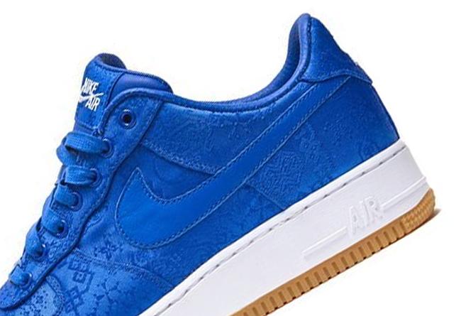 CLOT,Nike,AF1,陈冠希,发售  冠希亲自晒出蓝丝绸 CLOT x AF1!但这还不是最厉害的...