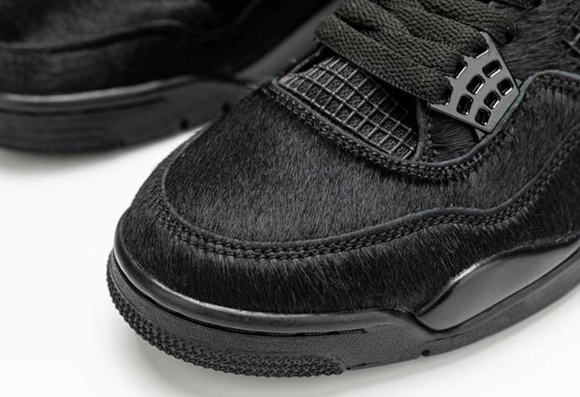 Air Jordan 4,AJ4,Pony Hair Bla  黑猫即将回归!马毛 Air Jordan 4 最新细节图释出!