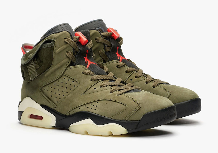 Air Jordan 6,Travis Scott,aj6,  Travis Scott x Air Jordan 6 后天发售!服装有点好看!