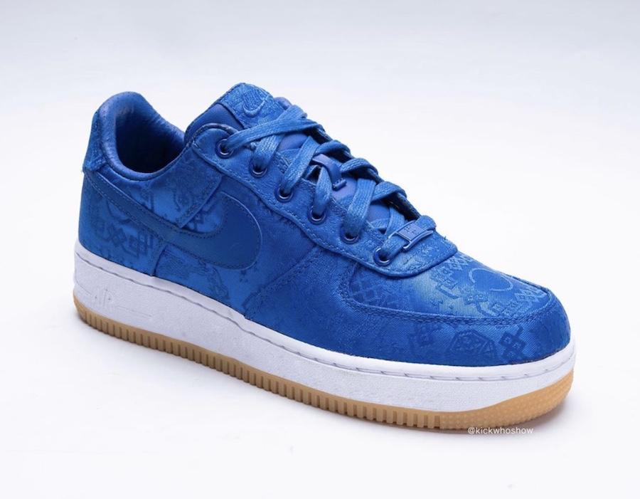Nike,AF1,CJ5290-400,发售 蓝丝绸 CLOT x AF1 最新细节图曝光!或于本月发售