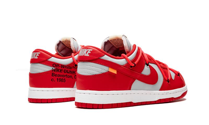 OFF-WHITE,Nike,Dunk Low,发售 清晰实物释出!灰红 OFF-WHITE x Dunk Low 你打几分?