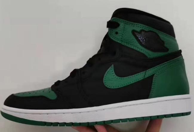 AJ1,Air Jordan 1,555088-030 黑绿 Air Jordan 1 明年 2 月发售!实物谍照首度曝光!
