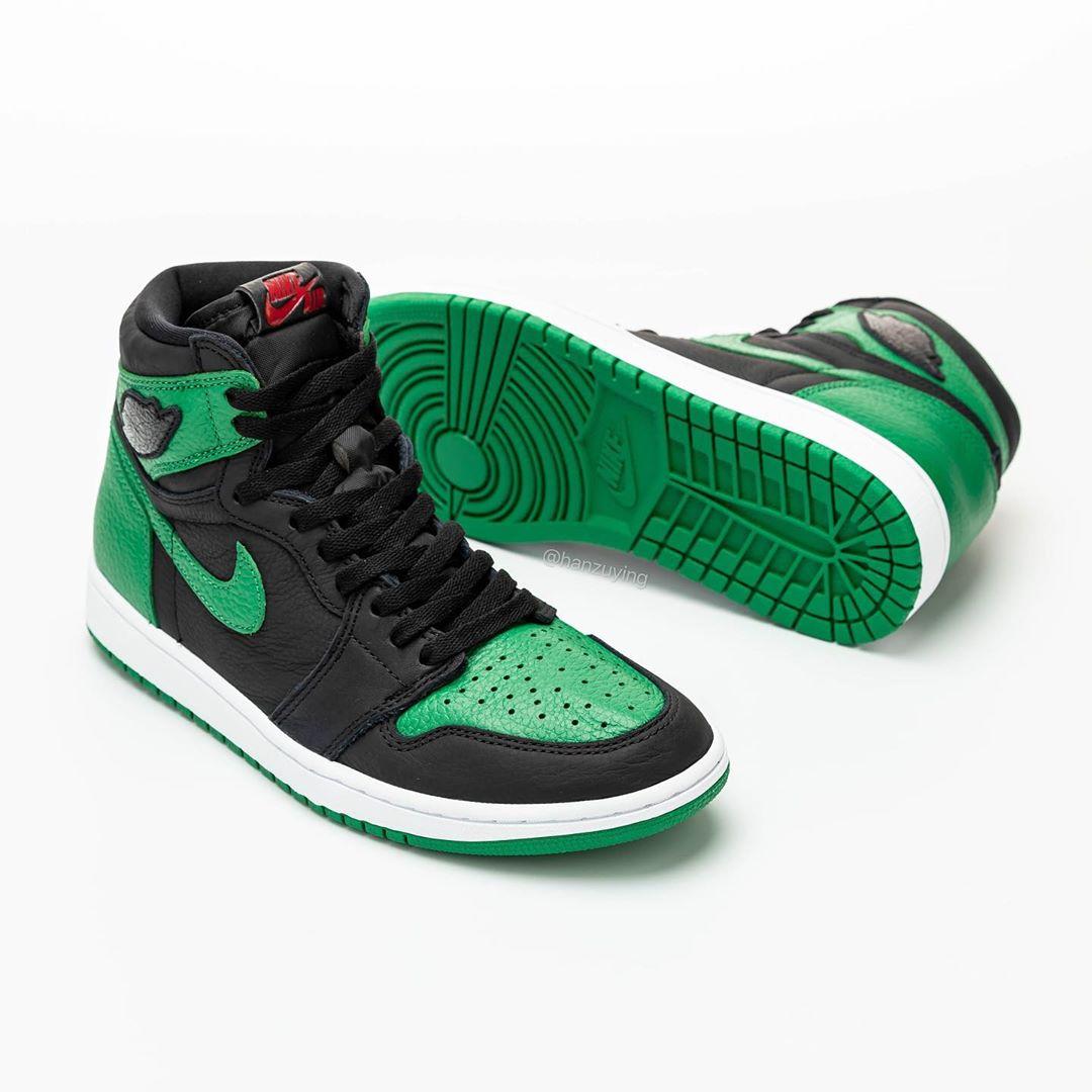 AJ1,Air Jordan 1,555088-030,发售 黑绿 AJ1 上脚照曝光!明年二月发售,又能配鸳鸯了!