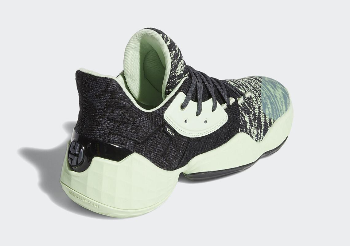 adidas,Harden,Vol.4, 黑薄荷绿迷彩!又一双清新亮眼的 Harden Vol. 4 来了!