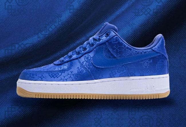 蓝丝绸,CLOT,Nike,Air Force 1,CJ52 又一位明星上脚蓝丝绸 AF1!首轮发售过后市价如何?