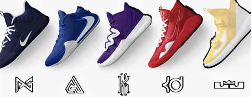 Nike by You,Nike,LeBron,Kyrie 多款球星战靴开启 Nike 定制选项!你与球员们的设计谁更帅?