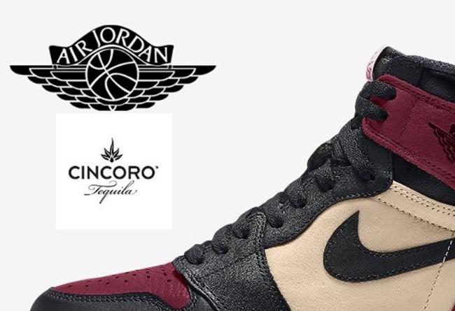 AJ1,Air Jordan 1,Cincoro Tequi 以 MJ 最爱的龙舌兰为主题!冷酷忧郁的酒红色 AJ1 首度曝光!