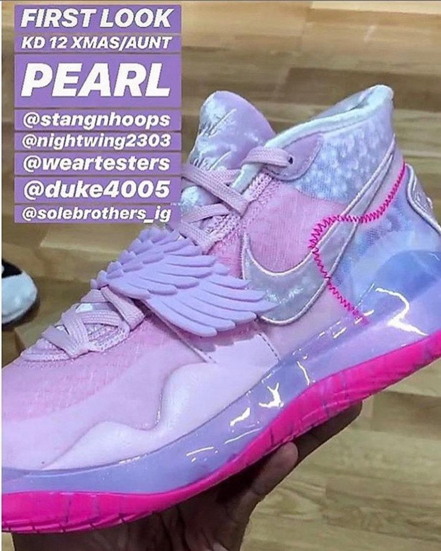 """Nike,KD12,Aunt Pearl 小翅膀又来了!KD12 """"Aunt Pearl"""" 第一眼就决定掏钱了!"""
