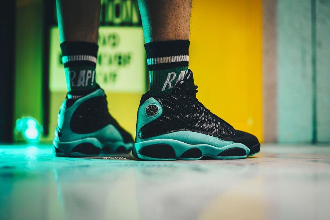 AJ13,Air Jordan 13,414571-030 奢华霸气鳄鱼纹!全新配色 Air Jordan 13 实物上脚释出!