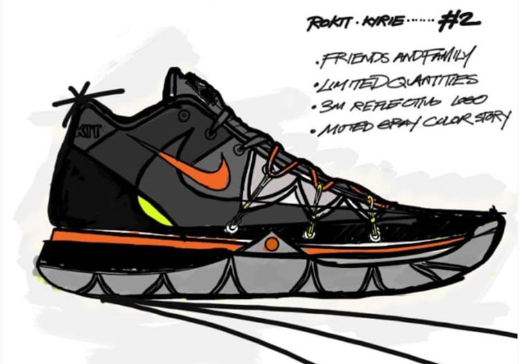 ROKIT,Nike,Kyrie 5  詹姆斯大儿子已入手!全新 ROKIT x Nike Kyrie 5 你打几分?