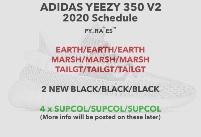Yeezy,Boost,350 v2, 9 双新配色 Yeezy 350 V2 将于 2020 年登场!不过...