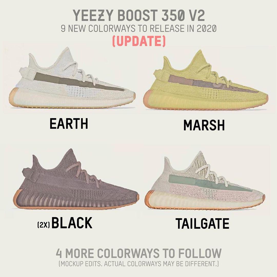 Yeezy 350 V2,adidas,发售 9 双 Yeezy 350 V2 明年发售!其中 5 双终于有图了!