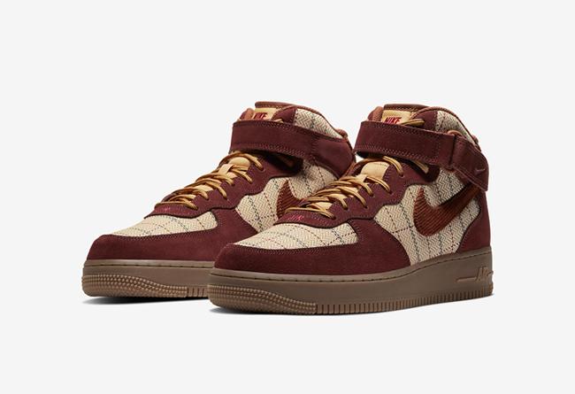 Nike,AF1,Air Force 1,CT1206-90 英伦风格纹鞋面!全新 Air Force 1 Mid 现已发售