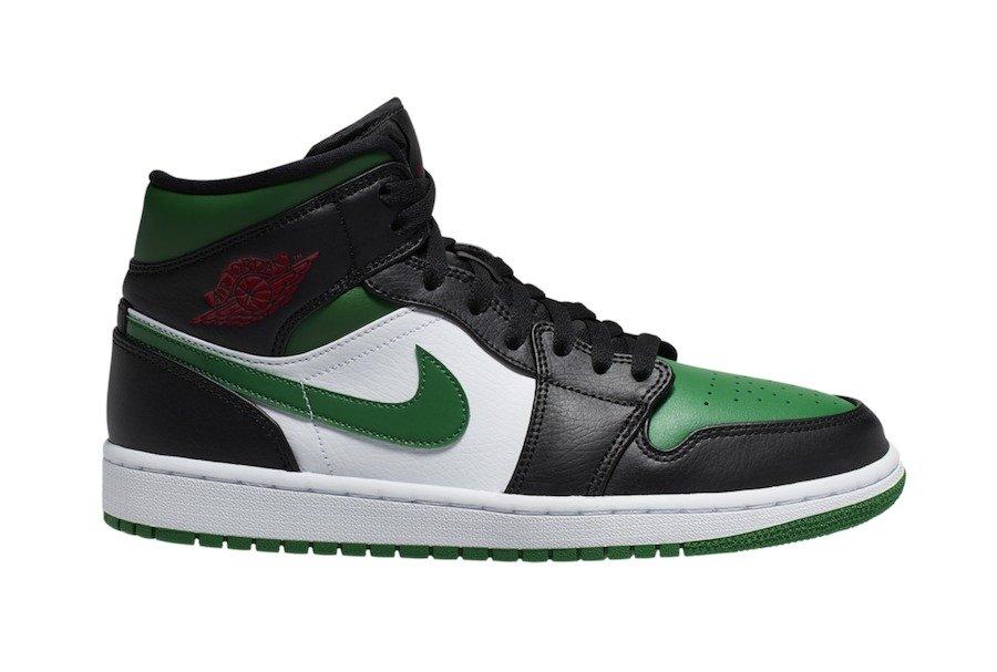 Air Jordan 1 mid,AJ1 mid,发售,Jo 凯尔特人还是黑绿脚趾?这双 AJ1 Mid 新品有点狠!